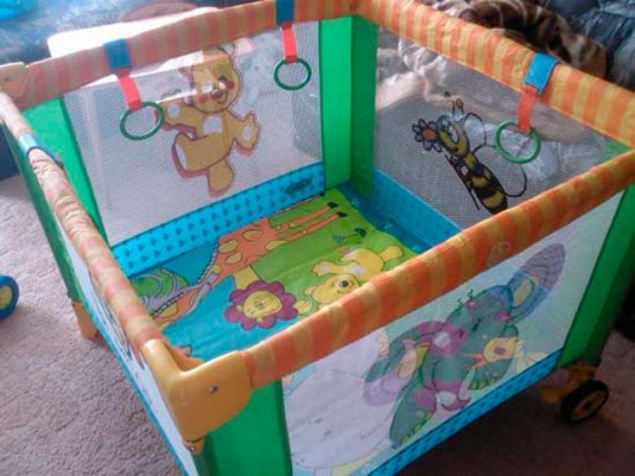 Манеж надувной игровой для детей