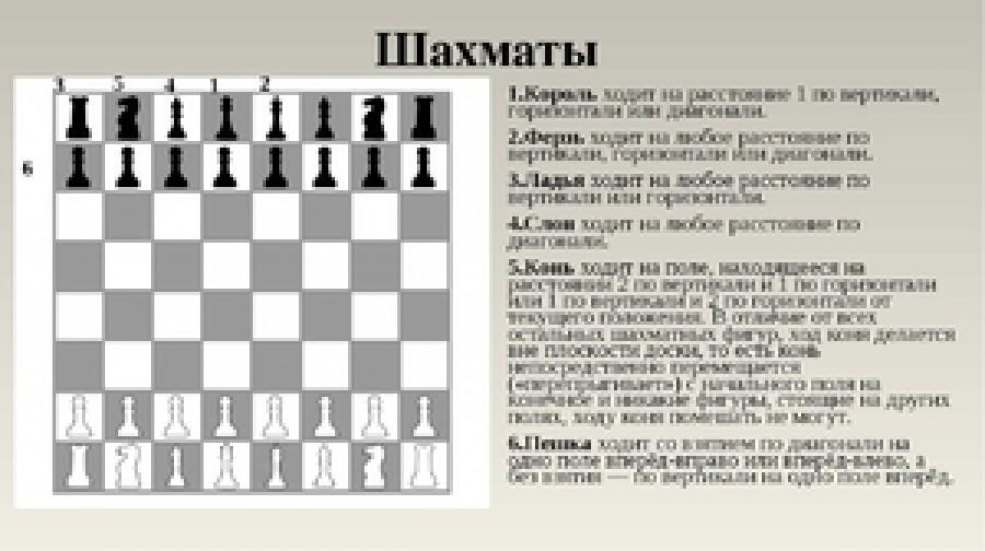 картинки ходы шахматных фигур