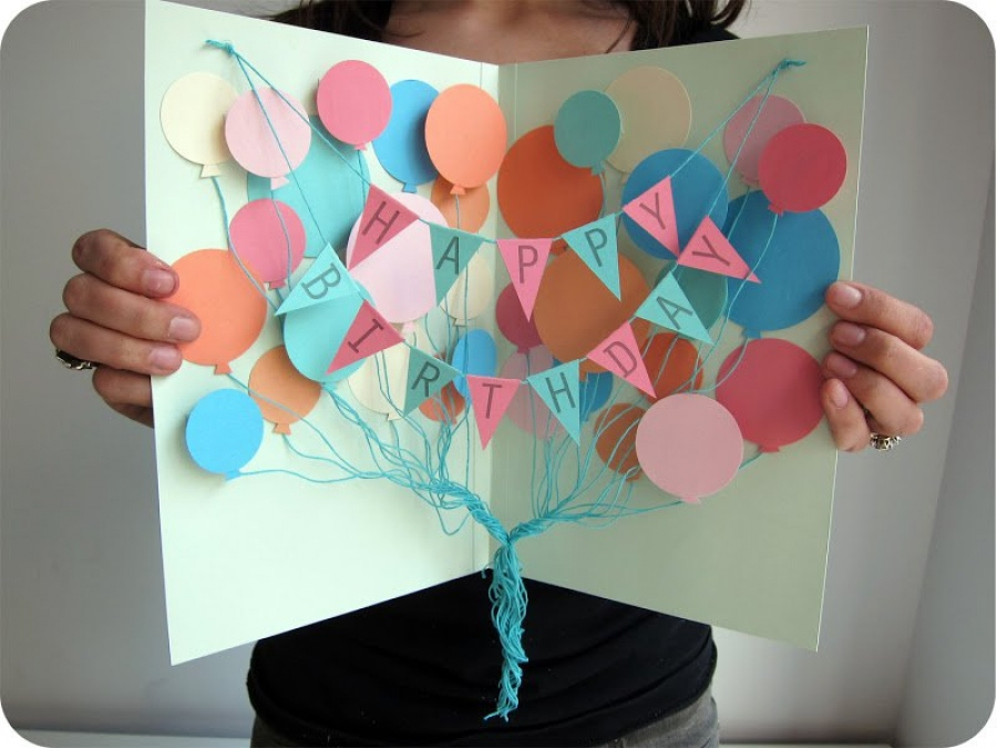 Сделать открытка на день рождения
