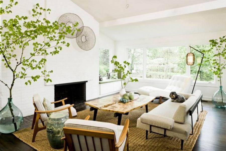 Декор эко гостиной - стильные решения