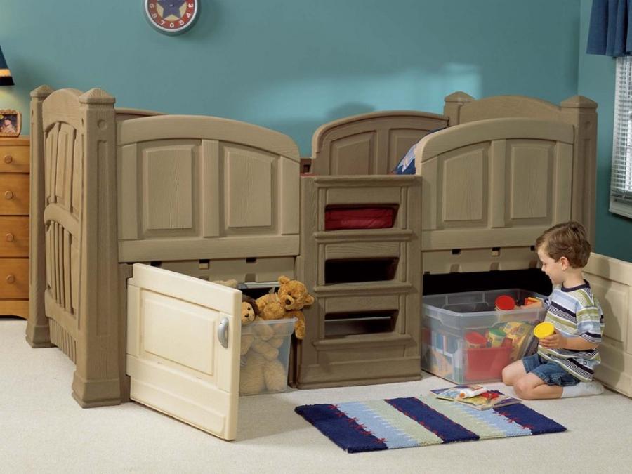 Какие бывают детские кровати с ящиками по виду их расположения