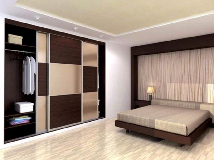Радиальный шкаф-купе в спальню