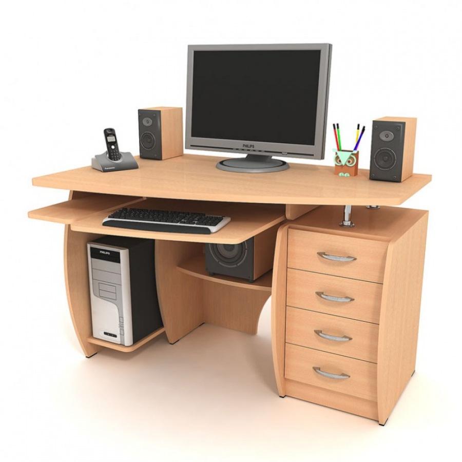 Стол с надстройкой позволяет удобно разместить монитор.