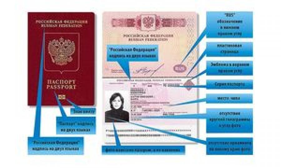 Номер российского паспорта пример