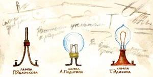 Какими были первые лампы накаливания