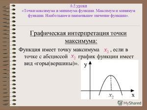 Функции- максимумы и минимумы