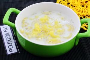 Вкусный молочный суп
