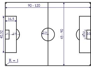 Разница между футбольными полями