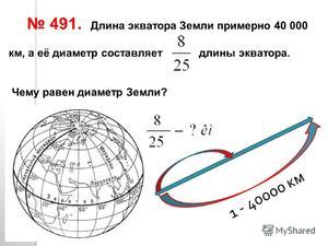 Окружность земли в км