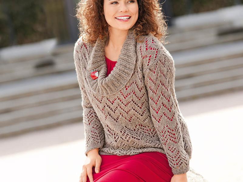 Ажурный женский свитер