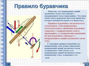Определение направлений линий магнитного поля