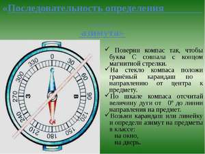 Как рассчитать азимут по компасу