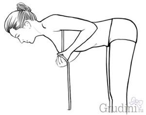 Снимаем мерки груди в наклоне