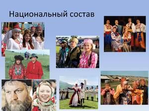 Национальный состав населения РФ