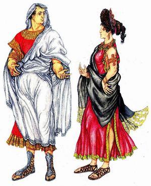 Зажиточные горожане древнего Рима