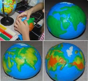 Материалы для создания макета земли