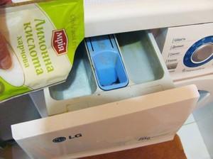 Как чистить стиральную машинку  лимонной кислотой