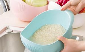 Замачить рис