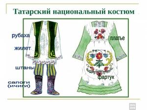 Чем украшают татарский костюм