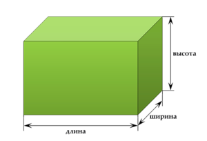 Вычислить объём прямоугольника