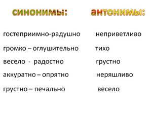 Примеры синонимов в русском языке