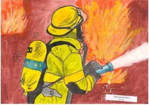 Как рисовать пожар