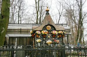 Могила Матроны  на Даниловском кладбище