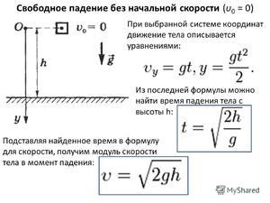 Как определить скорость падения
