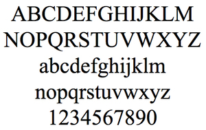 шрифт Times New Roman