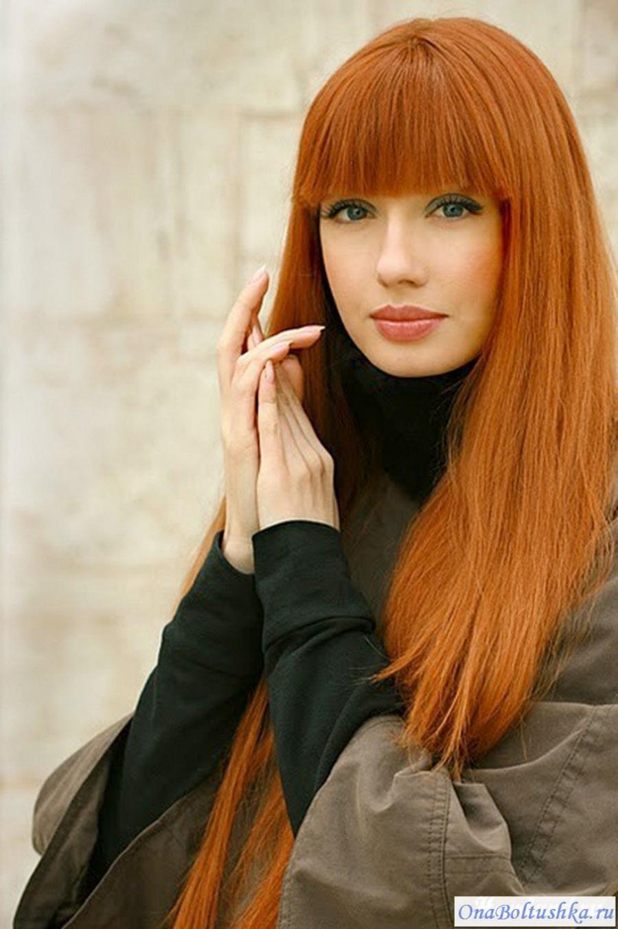 Цвет волос рыжий фото