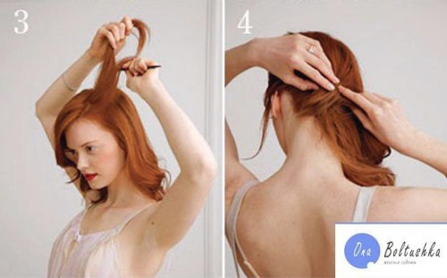 Прически в домашних условиях для волос средней длины