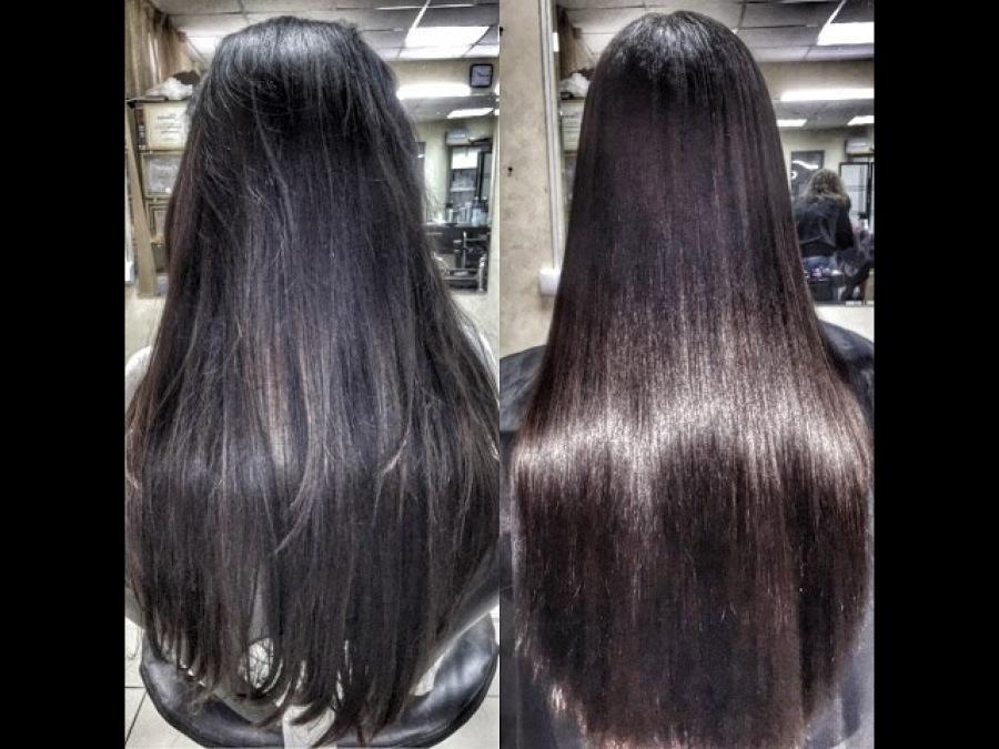 Кератиновое выпрямление волос в салоне и в домашних условиях
