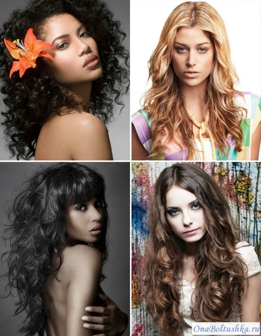Стрижки для длинных вьющихся волос